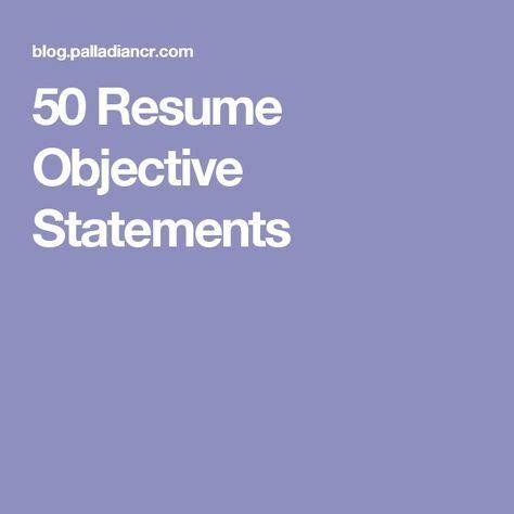 Teacher objective statements on resume